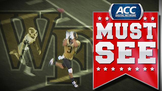 Wake's Michael Campanaro Perfect Over the Shoulder TD Catch | ACC Must See Moment