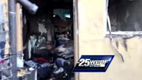 Raw video: Residents clean up after apartment fire
