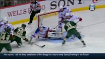 Zach Parise buries a rebound behind Talbot