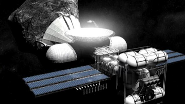 Mining in outer space