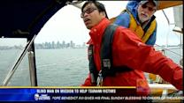 Blind man on a mission to help tsunami victims
