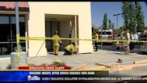 Building unsafe after driver crashes into bank in Poway