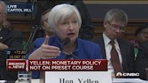 Monetary policy is not on a pre-set course: Yellen