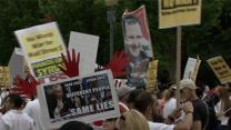 Raw: Syria Protests Outside of White House
