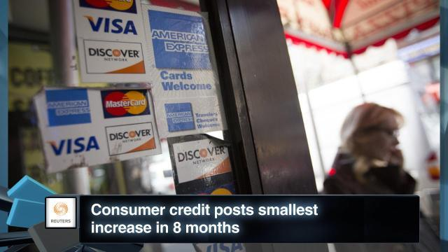 Consumer Credit Posts Smallest Increase in 8 Months