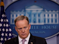 Trump tweets a send-off to Sean Spicer as Spicer takes a parting shot at the media