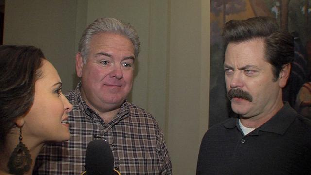 Nick Offerman And Jim O'Heir Talk Parks And Recreation's 100th Episode