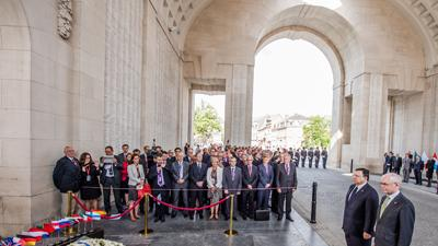 Raw: Leaders Gather to Mark WWI Centennial