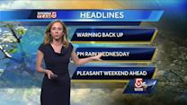 Danielle's Tuesday Boston area weather forecast