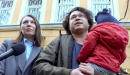 Russian couple face losing custody of child after protest