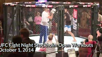 Fight Night Stockholm: Open Workout Highlights