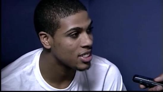 Final Four: Wayne Blackshear in the locker room