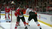 Brookbank and Simmonds scrap
