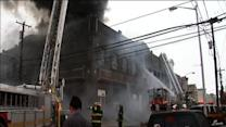 Fire tears through Mummers band's warehouse (PHOTOS)