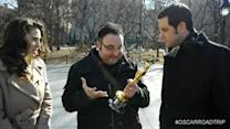"""Coveted golden statue """"Oscar"""" takes a road trip"""