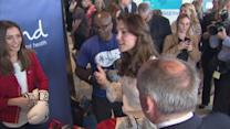Royals try out boxing at mental health campaign launch