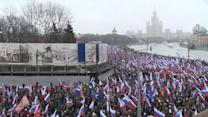 Thousands march in Moscow after death of Putin's political foe, Boris Nemtsov