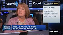Not comfortable with Wells Fargo 3% down plan: Bair