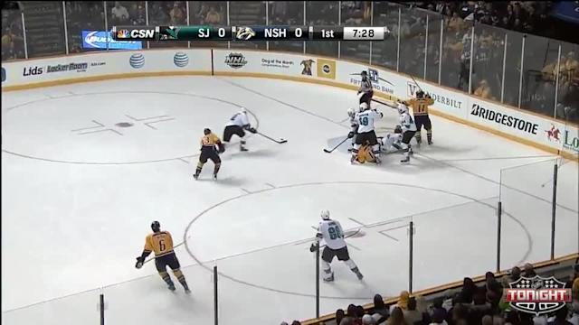 San Jose Sharks at Nashville Predators - 01/07/2014