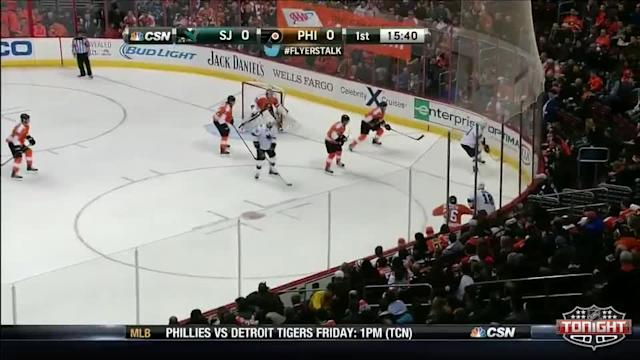San Jose Sharks at Philadelphia Flyers - 02/27/2014