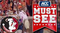 FSU WR Kelvin Benjamin Climbs the Ladder for Amazing TD Grab | ACC Must See Moment
