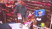 On Camera: Crook steals lotto scratchers, men cash in