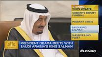 CNBC update: Saudi king visits White House
