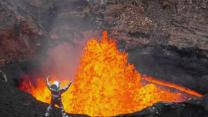 Watch: Incredible peek inside an active volcano