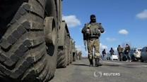 Monitors inspect column of heavy weapons, as Ukraine truce holds