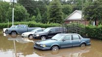 Heavy rains cause flooding in Johnston County