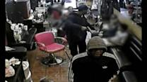 Police searching for suspects in brazen hair salon robbery.