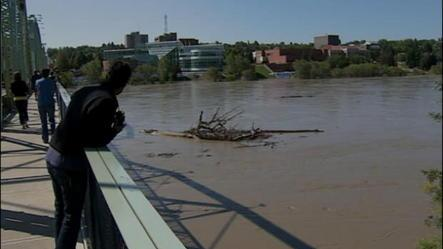 Rising river in Medicine Hat