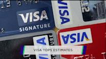Visa swipes past estimates; Kraft hurt by higher costs; Microsoft debuts smartwatch