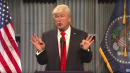 On 'SNL,' Alec Baldwin's Donald Trump Can't Stay On Message Either