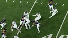 Baylor had an onside kick recovery overturned on review for an illegal block vs. WVU