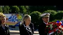 Hillary Clinton arrives in Russia