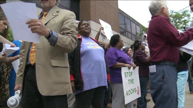 Protesters Rally Outside Of Hartford Courant