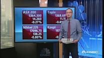 Asian shares open lower