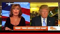 You're seeing some idiots in the press: Sarah Palin tells Trump
