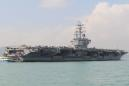 U.S. Navy carrier conducted exercises in South China Sea on Aug. 14