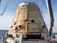 The SpaceX Dragon Capsule Returns to Earth Looking Like a Toasted Marshmallow