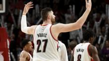 Jusuf Nurkic shows Nuggets what they're missing, gives Blazers playoff position