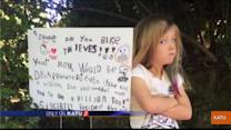 Six-Year-Old Makes Lawn Sign Shaming Bicycle Thieves