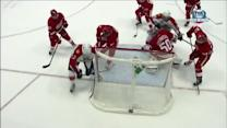Brendan Smith saves a goal out of mid-air