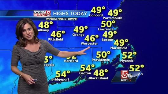 Cindy Fitzgibbon's Tuesday afternoon Boston area weather forecast