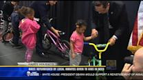 Bikes refurbished by local inmates given to kids in need