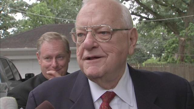 George Ryan speaks after leaving home confinement