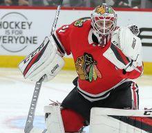 Anton Forsberg on uncertain future with Blackhawks as Corey Crawford nears return