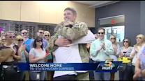 Local troops surprise loved ones after returning from deployments