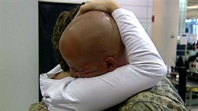 Soldiers Return To Tearful Reunions